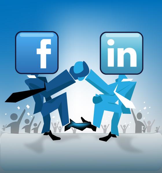 Facebook and LinkedIn logo