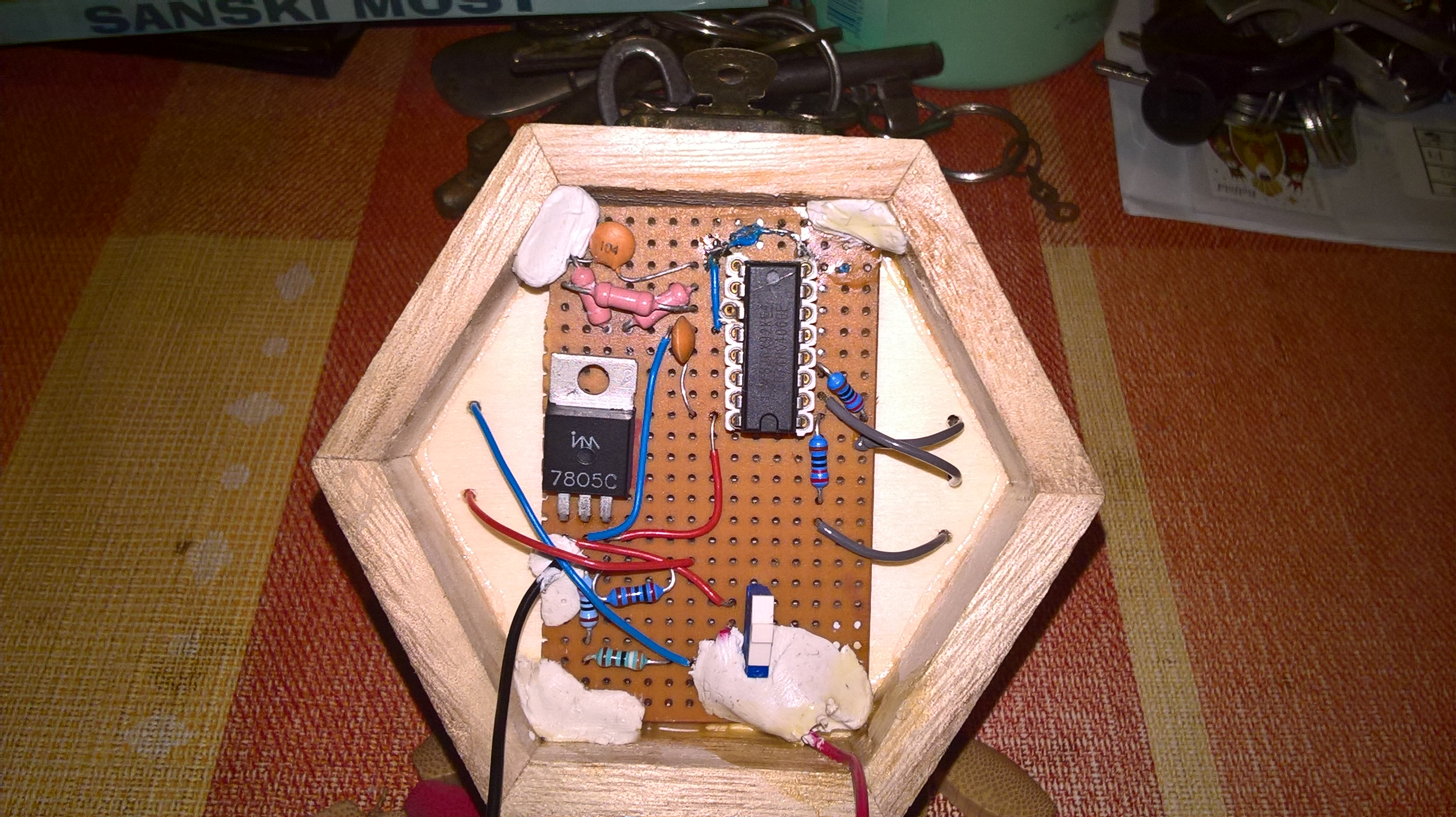 Circuit inside the box (photo)